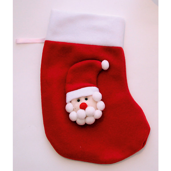 Украшение новогоднее подвесное Красный Дед Мороз арт.42512 из полиэстраНовогодние носки<br><br>Ширина мм: 240; Глубина мм: 140; Высота мм: 10; Вес г: 33; Возраст от месяцев: 24; Возраст до месяцев: 2147483647; Пол: Унисекс; Возраст: Детский; SKU: 7129090;