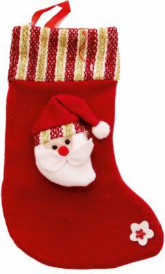 Magic Time Украшение новогоднее подвесное Дед Мороз Красно-золотой Большой арт.42517 из полиэстра