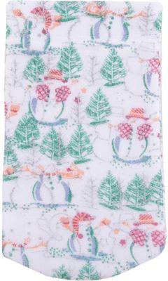 Magic Time Мешок новогодний для подарков Снеговик и Елка 30*15 см арт.42537 из полиэстра
