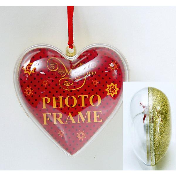 Украшение новогоднее подвесное Золотой блеск, арт.42317 сердце из поливинилхлорида