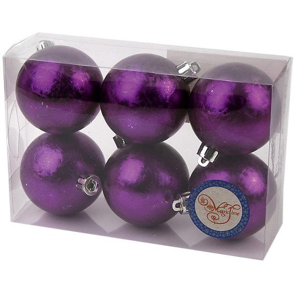 Новогоднее подвесное украшение Шар Метель фиолетовый из полистирола. Набор из 6 шт., 76001Новинки Новый Год<br><br><br>Ширина мм: 70<br>Глубина мм: 120<br>Высота мм: 60<br>Вес г: 71<br>Возраст от месяцев: 24<br>Возраст до месяцев: 2147483647<br>Пол: Унисекс<br>Возраст: Детский<br>SKU: 7129132