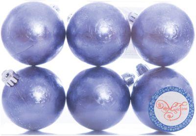 Magic Time Новогоднее подвесное украшение Шар Метель синий из полистирола. Набор из 6 шт., 76005