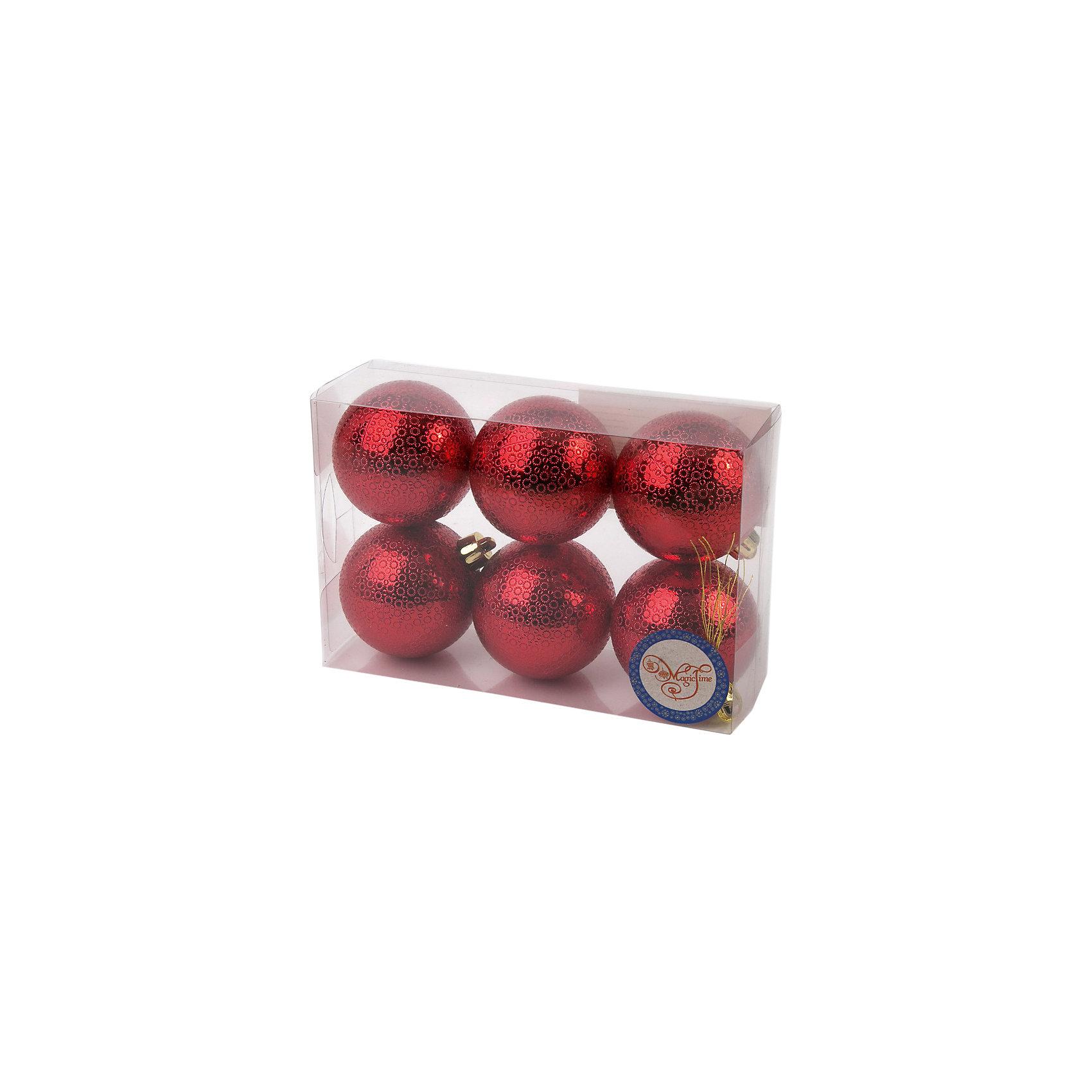 Новогоднее подвесное украшение Шар Мерцание красный из полистирола. Набор из 6 шт., 76040Ёлочные игрушки<br><br><br>Ширина мм: 120<br>Глубина мм: 170<br>Высота мм: 60<br>Вес г: 70<br>Возраст от месяцев: 24<br>Возраст до месяцев: 2147483647<br>Пол: Унисекс<br>Возраст: Детский<br>SKU: 7129143