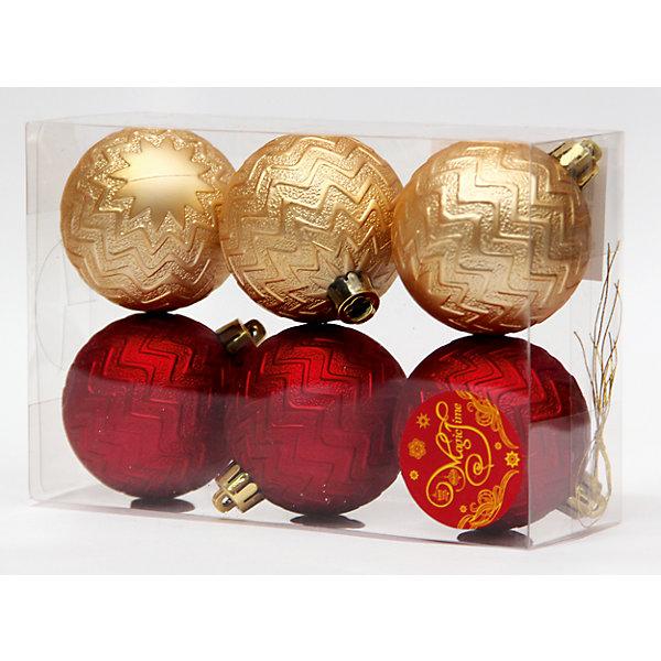 Новогоднее подвесное украшение Ассорти Шары красные и золотые из полистирола. Набор из 6 шт.Ёлочные игрушки<br><br><br>Ширина мм: 170<br>Глубина мм: 120<br>Высота мм: 60<br>Вес г: 72<br>Возраст от месяцев: 24<br>Возраст до месяцев: 2147483647<br>Пол: Унисекс<br>Возраст: Детский<br>SKU: 7129151