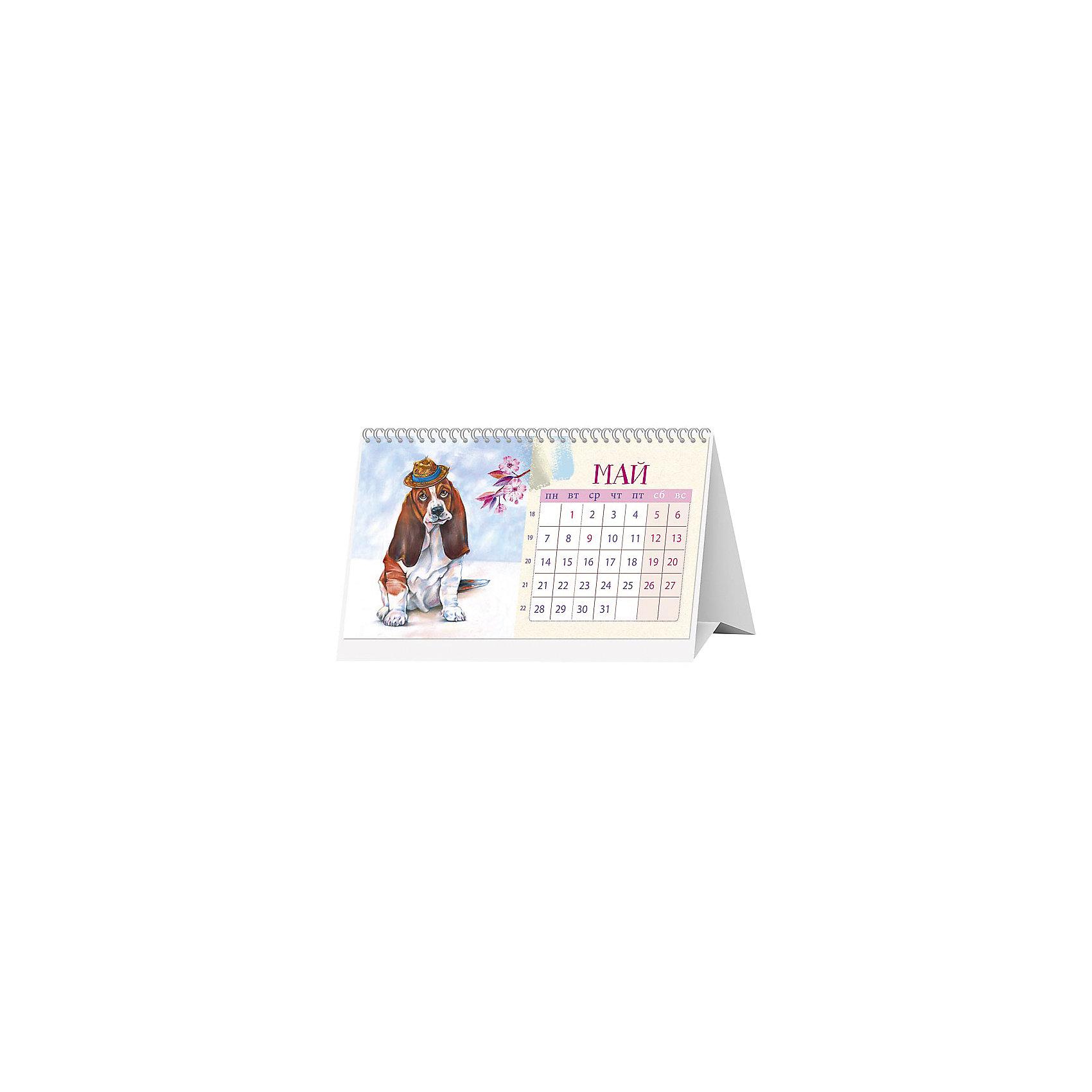"""Календарь 2018 настольный перекидной """"Жизнь замечательных собак"""" от myToys"""