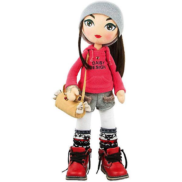 Мягкая кукла Daisy Design Sweet Heart, 55 смКуклы<br>Характеристики товара:<br><br>• возраст: от 3 лет;<br>• материал: текстиль;<br>• высота куклы: 55 см;<br>• размер упаковки: 57х18х15 см;<br>• вес упаковки: 1,263 кг;<br>• страна производитель: Китай.<br><br>Кукла Daisy Design Sweet Hearts — очаровательная кукла с большими карими глазами и длинными мягкими волосами. Кукла одета в спортивном стиле: на ней толстовка, шортики, гетры и большие ботинки. Дополняют образ браслет на руке и сумочка. Кукла полностью выполнена из мягкого текстиля, каркас жесткий.<br><br>Куклу Daisy Design Sweet Hearts можно приобрести в нашем интернет-магазине.<br><br>Ширина мм: 180<br>Глубина мм: 570<br>Высота мм: 150<br>Вес г: 1263<br>Возраст от месяцев: 36<br>Возраст до месяцев: 2147483647<br>Пол: Женский<br>Возраст: Детский<br>SKU: 7129606
