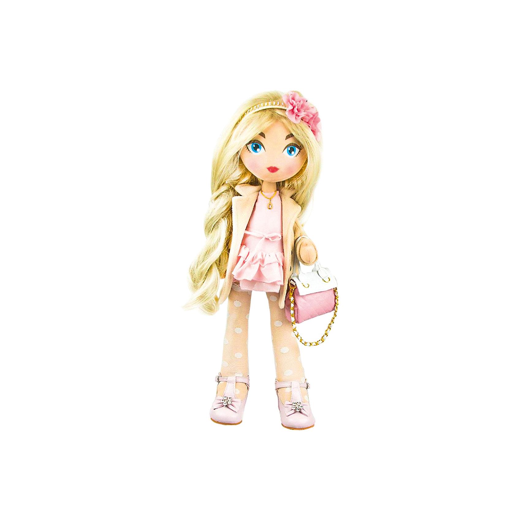 Мягкая кукла Daisy Design Romantic, 55 смКуклы<br>Характеристики товара:<br><br>• возраст: от 3 лет;<br>• материал: текстиль;<br>• высота куклы: 55 см;<br>• размер упаковки: 57х18х15 см;<br>• вес упаковки: 1,263 кг;<br>• страна производитель: Китай.<br><br>Кукла Daisy Design Romantic — очаровательная кукла с большими голубыми глазами и длинными светлыми волосами. Волосы можно расчесывать, украшать и заплетать. Кукла одета в розовое платье, пальто, туфельки. Дополняют образ ободок на голове с цветком и сумочка. Кукла полностью выполнена из мягкого текстиля, каркас жесткий.<br><br>Куклу Daisy Design Romantic можно приобрести в нашем интернет-магазине.<br><br>Ширина мм: 180<br>Глубина мм: 570<br>Высота мм: 150<br>Вес г: 1263<br>Возраст от месяцев: 36<br>Возраст до месяцев: 2147483647<br>Пол: Женский<br>Возраст: Детский<br>SKU: 7129607