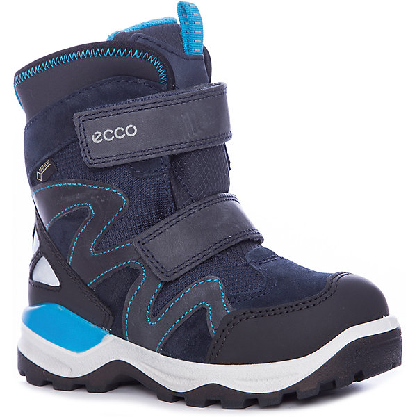 Ботинки ECCO для мальчикаБотинки<br>Характеристики товара:<br><br>• цвет: синий<br>• внешний материал: замша, кожа, текстиль<br>• внутренний материал: полиакрил, полиэстер<br>• стелька: термостелька - полиэстер<br>• подошва: полимер<br>• сезон: зима<br>• мембранные<br>• температурный режим: от -35 до 0<br>• особенности модели: спортивный стиль<br>• застежка: липучки<br>• защита мыса <br>• подошва не скользит<br>• анатомические<br>• страна бренда: Дания<br>• страна изготовитель: Китай<br><br>Стильные мембранные сапоги от бренда ECCO легко надеваются благодаря удобной застежке. Зимние сапоги сделаны из качественных прочных материалов. Сапоги ECCO с утепленной подкладкой и мембраной Gore-Tex - пример высокого всемирно признанного качества.<br><br>Сапоги ECCO (ЭККО) можно купить в нашем интернет-магазине.<br><br>Ширина мм: 257<br>Глубина мм: 180<br>Высота мм: 130<br>Вес г: 420<br>Цвет: черный<br>Возраст от месяцев: 60<br>Возраст до месяцев: 72<br>Пол: Мужской<br>Возраст: Детский<br>Размер: 29,30,28,27,34,33,32,31<br>SKU: 7129801
