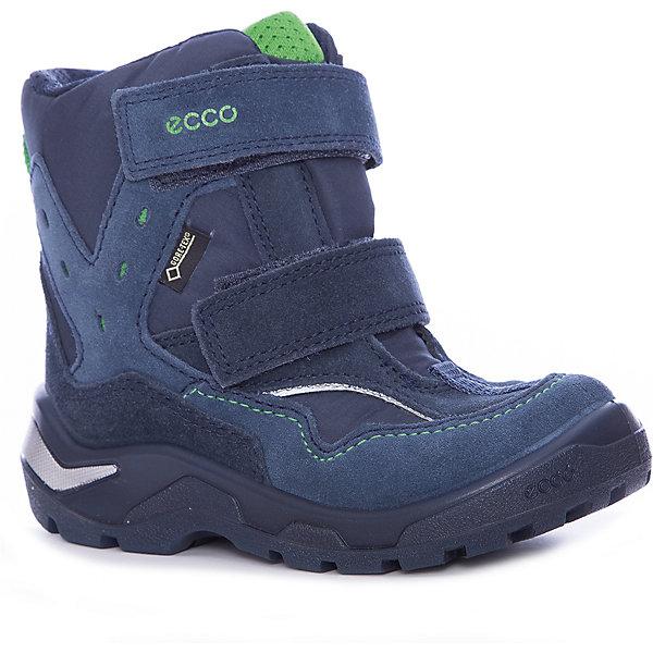 Ботинки ECCO для мальчикаБотинки<br>Характеристики товара:<br><br>• цвет: синий<br>• внешний материал: замша, текстиль<br>• внутренний материал: искусственный мех<br>• стелька: полиэстер<br>• подошва: полимер<br>• сезон: демисезон<br>• мембранные<br>• температурный режим: от -10 до +10<br>• особенности модели: спортивный стиль<br>• застежка: липучки<br>• защита мыса<br>• подошва не скользит<br>• анатомические<br>• высокие<br>• страна бренда: Дания<br>• страна изготовитель: Китай<br><br>Детские ботинки от бренда ECCO легко надеваются благодаря удобной застежке. Стильные ботинки с мембраной Gore-Tex дополнены толстой устойчивой подошвой. Утепленные ботинки для ребенка ECCO - пример высокого всемирно признанного качества. <br><br>Ботинки ECCO (ЭККО) можно купить в нашем интернет-магазине.<br><br>Ширина мм: 262<br>Глубина мм: 176<br>Высота мм: 97<br>Вес г: 427<br>Цвет: синий<br>Возраст от месяцев: 72<br>Возраст до месяцев: 84<br>Пол: Мужской<br>Возраст: Детский<br>Размер: 30,27,29,28<br>SKU: 7130019