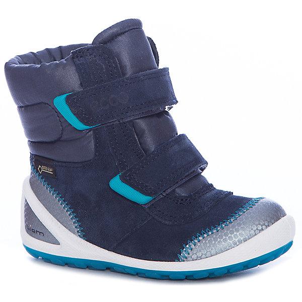 Ботинки ECCO для мальчикаОбувь для малышей<br>Характеристики товара:<br><br>• цвет: синий<br>• внешний материал: замша, текстиль<br>• внутренний материал: текстиль<br>• стелька: текстиль<br>• подошва: полимер<br>• сезон: демисезон<br>• мембранные<br>• температурный режим: от -10 до +10<br>• особенности модели: спортивный стиль<br>• застежка: липучки<br>• защита мыса <br>• подошва не скользит<br>• анатомические<br>• высокие<br>• страна бренда: Дания<br>• страна изготовитель: Китай<br><br>Утепленные ботинки ECCO для ребенка выглядят модно и обеспечивают ногам комфортный микроклимат. Стильный дизайн детских ботинок делает их комфортными и оригинальными. Высокие мембранные ботинки сделаны из качественных материалов. <br><br>Ботинки ECCO (ЭККО) можно купить в нашем интернет-магазине.<br><br>Ширина мм: 262<br>Глубина мм: 176<br>Высота мм: 97<br>Вес г: 427<br>Цвет: синий<br>Возраст от месяцев: 15<br>Возраст до месяцев: 18<br>Пол: Мужской<br>Возраст: Детский<br>Размер: 22,26,25,24,23<br>SKU: 7130063
