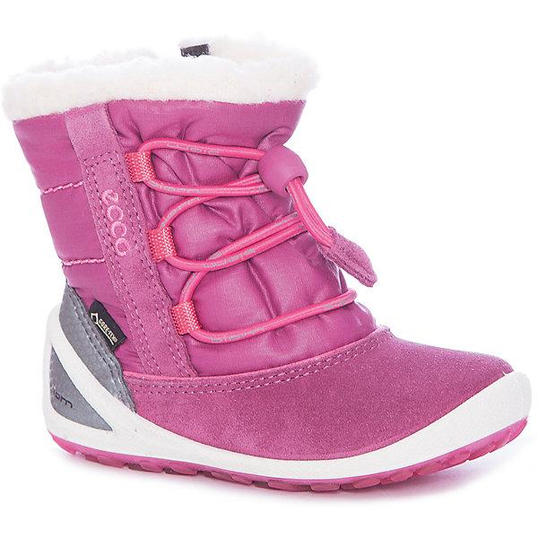 Ботинки ECCO для девочкиБотинки<br>Характеристики товара:<br><br>• цвет: фиолетовый<br>• внешний материал: кожа, текстиль<br>• внутренний материал: шерсть, полиэстер<br>• стелька: кожа<br>• подошва: полимер<br>• сезон: зима<br>• мембранные<br>• температурный режим: от -30 до 0<br>• особенности модели: спортивный стиль<br>• застежка: шнурки<br>• защита мыса <br>• подошва не скользит<br>• анатомические<br>• высокие<br>• страна бренда: Дания<br>• страна изготовитель: Китай<br><br>Утепленные ботинки ECCO для ребенка выглядят модно и обеспечивают ногам комфортный микроклимат. Стильный дизайн детских ботинок делает их комфортными и оригинальными. Высокие мембранные ботинки сделаны из качественных материалов. <br><br>Ботинки ECCO (ЭККО) можно купить в нашем интернет-магазине.<br><br>Ширина мм: 262<br>Глубина мм: 176<br>Высота мм: 97<br>Вес г: 427<br>Цвет: лиловый<br>Возраст от месяцев: 21<br>Возраст до месяцев: 24<br>Пол: Женский<br>Возраст: Детский<br>Размер: 24,25,23,22,26<br>SKU: 7130075