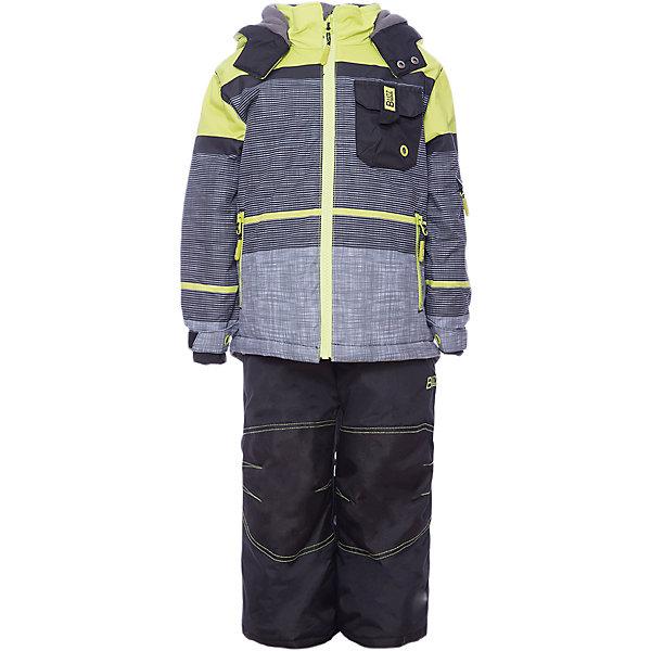 Комплект: куртка и брюки BLIZZ для мальчикаВерхняя одежда<br>Характеристики товара:<br><br>• цвет: серый, зеленый<br>• комплектация: куртка и брюки<br>• состав ткани: полиэстер<br>• подкладка: куртка - флис, брюки - 100% полиэстер<br>• утеплитель: тек-полифилл<br>• сезон: зима<br>• мембранное покрытие<br>• температурный режим: от -40 до 0<br>• водонепроницаемость: 5000 мм <br>• паропроницаемость: 5000 г/м2<br>• плотность утеплителя: грудь и спина 220 г/м2, рукава и брюки 170 г/м2<br>• застежка: молния<br>• капюшон: без меха, съемный<br>• брюки усилены износостойкими вставками<br>• страна бренда: Канада<br>• страна изготовитель: Китай<br><br>Теплый комплект Blizz для мальчика рассчитан даже на сильные морозы. Мембранный зимний комплект для ребенка отличается продуманным дизайном. Непромокаемый и непродуваемый верх детского комплекта не задерживает воздух. Зимний комплект легкий и износостойкий. <br><br>Комплект: куртка и брюки Blizz (Близ) для мальчика можно купить в нашем интернет-магазине.<br>Ширина мм: 356; Глубина мм: 10; Высота мм: 245; Вес г: 519; Цвет: зеленый; Возраст от месяцев: 24; Возраст до месяцев: 36; Пол: Мужской; Возраст: Детский; Размер: 86,98/104,128,122,116/122,116,110,104,98,92,86/92; SKU: 7131272;