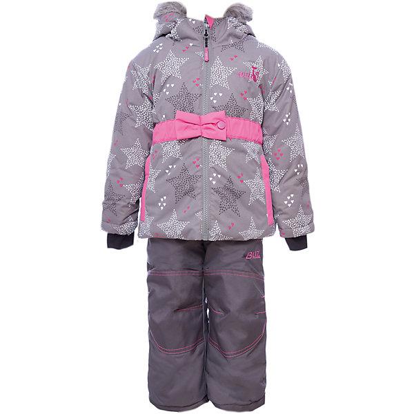 Комплект: куртка и брюки BLIZZ для девочкиВерхняя одежда<br>Характеристики товара:<br><br>• цвет: серый<br>• комплектация: куртка и брюки<br>• состав ткани: полиэстер<br>• подкладка: куртка - флис, брюки - 100% полиэстер<br>• утеплитель: тек-полифилл<br>• сезон: зима<br>• мембранное покрытие<br>• температурный режим: от -40 до 0<br>• водонепроницаемость: 5000 мм <br>• паропроницаемость: 5000 г/м2<br>• плотность утеплителя: грудь и спина 220 г/м2, рукава и брюки 170 г/м2<br>• застежка: молния<br>• капюшон: с мехом, съемный<br>• брюки усилены износостойкими вставками<br>• страна бренда: Канада<br>• страна изготовитель: Китай<br><br>Теплый детский комплект для зимы усилен износостойкими накладкам на брючинах. Этот мембранный комплект для девочки позволяет коже дышать. Верх детской зимней куртки и брюк не промокает и не продувается. Мягкая подкладка детского комплекта для зимы приятна на ощупь. <br><br>Комплект: куртка и брюки Blizz (Близ) для девочки можно купить в нашем интернет-магазине.<br>Ширина мм: 356; Глубина мм: 10; Высота мм: 245; Вес г: 519; Цвет: серый; Возраст от месяцев: 60; Возраст до месяцев: 72; Пол: Женский; Возраст: Детский; Размер: 116/122,92,98,98/104,104,110,116; SKU: 7131311;