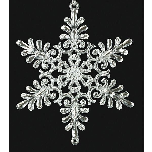 Украшение на елку ErichKrause Снежинка, 8 см (миниатюрная)