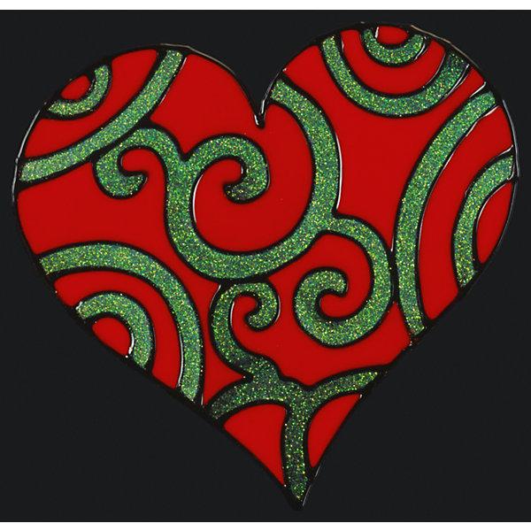 Наклейка на окно ErichKrause Узорное сердце, 14,5х15 смНовогодние наклейки на окна<br>Характеристики:<br><br>• материал: силикон<br>• упаковка: пакет с хедером из плотного картона и европодвесом<br>• размер упаковки: 14,5х15 см.<br><br>Яркая наклейка из силикона с романтической тематикой крепится к гладким стеклянным и зеркальным поверхностям посредством статического эффекта. Легко снимается, не оставляя следов. Допускается многократное использование.<br><br>Наклейку на окно УЗОРНОЕ СЕРДЦЕ 14.5х15см можно купить в нашем интернет-магазине.<br>Ширина мм: 210; Глубина мм: 2; Высота мм: 250; Вес г: 60; Возраст от месяцев: -2147483648; Возраст до месяцев: 2147483647; Пол: Унисекс; Возраст: Детский; SKU: 7132406;