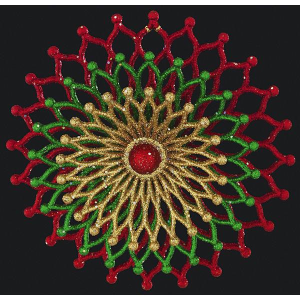 Украшение на елку ErichKrause Новогодний карнавал, 13 смЁлочные игрушки<br>Характеристики:<br><br>• размер: 13 см.<br>• вес: 60 гр.<br><br>Необычное украшение круглой формы привлекает внимание резной текстурой и красивым сочетанием цветов. Внешний вид украшения напоминает экзотический цветок.<br><br>С помощью специальной петли украшение можно подвесить в любом понравившемся месте. Но, конечно же, удачнее всего такая игрушка будет смотреться на праздничной елке.<br><br>Новогодние украшения приносят в дом волшебство и ощущение праздника. Создайте в своем доме атмосферу веселья и радости, украшая всей семьей новогоднюю елку нарядными игрушками, которые будут из года в год накапливать теплоту воспоминаний.<br><br>Украшение НОВОГОДНИЙ КАРНАВАЛ 13см можно купить в нашем интернет-магазине.<br>Ширина мм: 130; Глубина мм: 35; Высота мм: 130; Вес г: 60; Возраст от месяцев: -2147483648; Возраст до месяцев: 2147483647; Пол: Унисекс; Возраст: Детский; SKU: 7132418;
