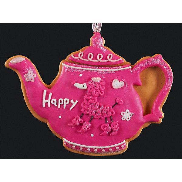 Украшение на елку ErichKrause Пряничный чайник, 10,5 смЁлочные игрушки<br>Характеристики:<br><br>• размер: 10,5 см.<br>• вес: 50 гр.<br>• материал: глина<br><br>Очаровательное украшение в виде чайника напоминает пряник, покрытый глазурью. С помощью специальной петли украшение можно подвесить в любом понравившемся месте. Но, конечно же, удачнее всего такая игрушка будет смотреться на праздничной елке.<br><br>Изделие выполнено из глины и требует бережного отношения.<br><br>Украшение ПРЯНИЧНЫЙ ЧАЙНИК 10.5см можно купить в нашем интернет-магазине.<br><br>Ширина мм: 105<br>Глубина мм: 5<br>Высота мм: 70<br>Вес г: 50<br>Возраст от месяцев: -2147483648<br>Возраст до месяцев: 2147483647<br>Пол: Унисекс<br>Возраст: Детский<br>SKU: 7132423