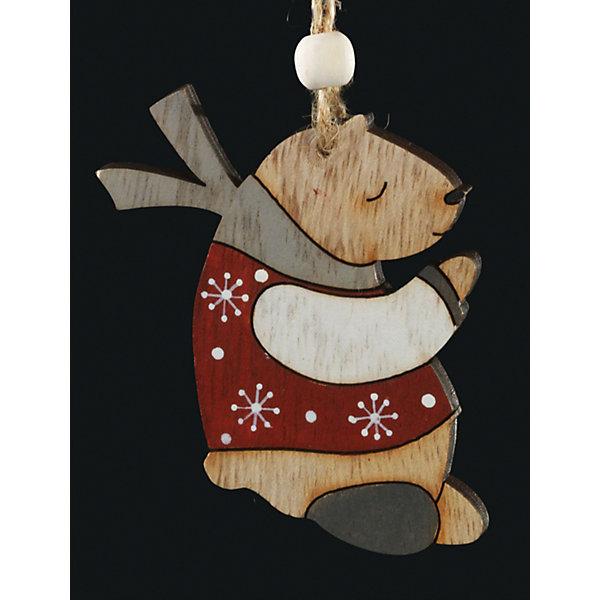 Украшение на елку ErichKrause Медвежонок, 7 смЁлочные игрушки<br>Характеристики:<br><br>• размер: 7 см.<br>• материал: древесина<br><br>Новогоднее украшение в виде спящего медвежонка, одетого свитер и шарф, очаровывает своим изяществом и простотой исполнения.  Легкое и безопасное в использовании украшение из древесины смотрится очень необычно. С помощью специальной петли украшение можно разместить как на елке, так и в любом подходящем месте интерьера.<br><br>Новогодние украшения приносят в дом волшебство и ощущение праздника. Создайте в своем доме атмосферу веселья и радости, украшая всей семьей новогоднюю елку нарядными игрушками, которые будут из года в год накапливать теплоту воспоминаний.<br><br>Украшение МЕДВЕЖОНОК 7см можно купить в нашем интернет-магазине.<br>Ширина мм: 65; Глубина мм: 5; Высота мм: 70; Вес г: 10; Возраст от месяцев: -2147483648; Возраст до месяцев: 2147483647; Пол: Унисекс; Возраст: Детский; SKU: 7132437;