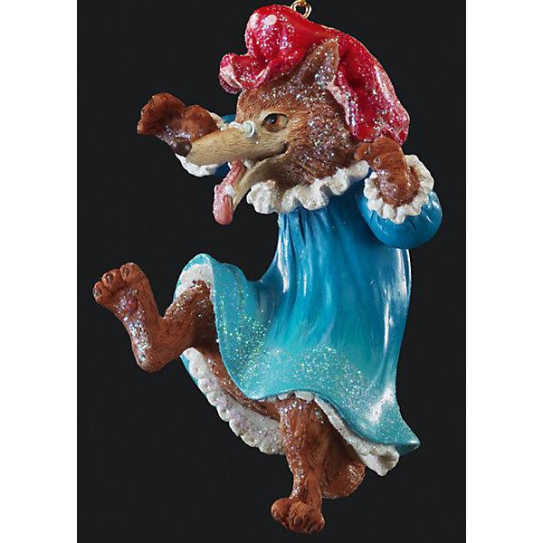 Украшение на елку ErichKrause Будни волка, 10,5 смЁлочные игрушки<br>Характеристики:<br><br>• размер: 10,5 см.<br>• материал: полирезина<br><br>Оригинальное украшение в виде Серого волка, облаченного в одежду съеденной бабушки - необычное решение для праздничного декора. С помощью специальной петли украшение можно разместить как на елке, так и в любом подходящем месте интерьера.<br><br>Новогодние украшения приносят в дом волшебство и ощущение праздника. Создайте в своем доме атмосферу веселья и радости, украшая всей семьей новогоднюю елку нарядными игрушками, которые будут из года в год накапливать теплоту воспоминаний.<br><br>Украшение БУДНИ ВОЛКА 10.5см можно купить в нашем интернет-магазине.<br>Ширина мм: 65; Глубина мм: 60; Высота мм: 105; Вес г: 90; Возраст от месяцев: -2147483648; Возраст до месяцев: 2147483647; Пол: Унисекс; Возраст: Детский; SKU: 7132447;