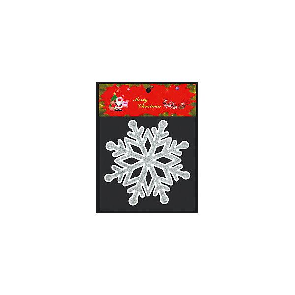 Наклейка на окно ErichKrause Снежинка, 14х14 см (белая)Новогодние наклейки на окна<br>Характеристики:<br><br>• диаметр снежинки: 14 см.<br>• материал: силикон<br>• упаковка: пакет с хедером из плотного картона и европодвесом<br>• размер упаковки: 23х19х0,2 см.<br><br>Наклейка из силикона в виде белой снежинки с блестками крепится к гладким стеклянным и зеркальным поверхностям посредством статического эффекта. Для обеспечения лучшего сцепления с поверхностью, обратная сторона наклейки абсолютно гладкая. Рисунок с обратной стороны полностью повторяется, таким образом, вид с улицы на украшенное окно будет радовать прохожих.<br><br>Наклейка легко снимается, не оставляя следов. Допускается многократное использование.<br><br>Наклейку на окно СНЕЖИНКА белая 14х14см можно купить в нашем интернет-магазине.<br>Ширина мм: 190; Глубина мм: 2; Высота мм: 230; Вес г: 20; Возраст от месяцев: -2147483648; Возраст до месяцев: 2147483647; Пол: Унисекс; Возраст: Детский; SKU: 7132452;