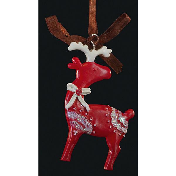 Украшение на елку ErichKrause Олень узорный, 8 смЁлочные игрушки<br>Характеристики:<br><br>• размер: 8 см.<br>• вес: 30 гр.<br><br>Сочетание красного и белого цветов - одно из самых популярных среди новогодних украшений. Красный олень с белыми рожками и бантиком символизирует благополучие. Отличительной особенностью этого изделия является тонко прорисованный орнамент.<br><br>Украшение оснащено красивой ленточкой с помощью, которой его можно подвесить в любом понравившемся месте. Но, конечно же, удачнее всего такая игрушка будет смотреться на праздничной елке.<br><br>Новогодние украшения приносят в дом волшебство и ощущение праздника. Создайте в своем доме атмосферу веселья и радости, украшая всей семьей новогоднюю елку нарядными игрушками, которые будут из года в год накапливать теплоту воспоминаний.<br><br>Украшение ОЛЕНЬ узорный 8см можно купить в нашем интернет-магазине.<br>Ширина мм: 50; Глубина мм: 10; Высота мм: 80; Вес г: 30; Возраст от месяцев: -2147483648; Возраст до месяцев: 2147483647; Пол: Унисекс; Возраст: Детский; SKU: 7132475;