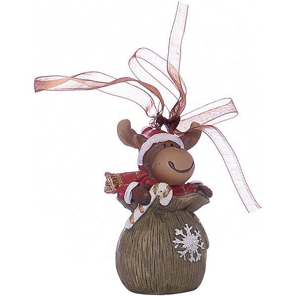 Украшение на елку ErichKrause Лось в мешке, 6 смЁлочные игрушки<br>Характеристики:<br><br>• размер: 6 см.<br>• материал: полирезина<br><br>Новогоднее украшение от ErichKrause (ЭрихКраузе), выполненное из высококачественного материала, представляет собой маленькую фигурку лося сидящего в мешке Деда Мороза. Украшение оснащено красивой ленточкой с помощью, которой его можно подвесить в любом понравившемся месте. Но, конечно же, удачнее всего такая игрушка будет смотреться на праздничной елке.<br><br>Новогодние украшения приносят в дом волшебство и ощущение праздника. Создайте в своем доме атмосферу веселья и радости, украшая всей семьей новогоднюю елку нарядными игрушками, которые будут из года в год накапливать теплоту воспоминаний.<br><br>Украшение ЛОСЬ в мешке 6см можно купить в нашем интернет-магазине.<br>Ширина мм: 35; Глубина мм: 35; Высота мм: 60; Вес г: 50; Возраст от месяцев: -2147483648; Возраст до месяцев: 2147483647; Пол: Унисекс; Возраст: Детский; SKU: 7132477;