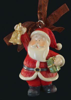 Erich Krause Украшение на елку ErichKrause Санта с колокольчиком , 6 см
