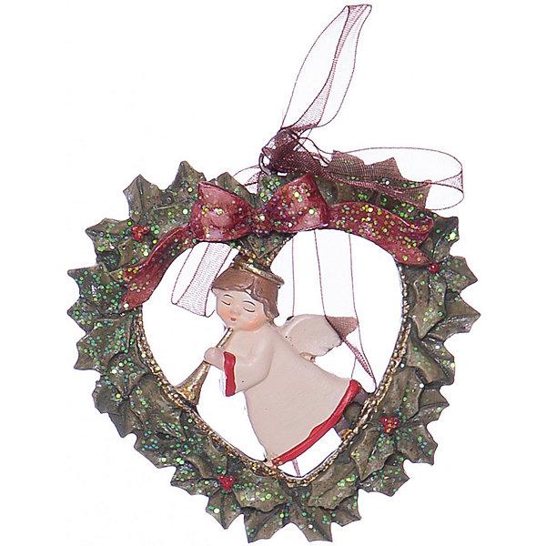Украшение на елку ErichKrause Ангел на Рождество, 8 смЁлочные игрушки<br>Характеристики:<br><br>• размер: 7,5 см.<br>• материал: полирезина<br><br>Новогоднее украшение «Ангел на Рождество» от ErichKrause (ЭрихКраузе) выполнено из высококачественного материала. Рождественский ангел находится внутри изысканного рождественского венка. Украшение оснащено красивой ленточкой с помощью, которой его можно подвесить в любом понравившемся месте. Но, конечно же, удачнее всего такая игрушка будет смотреться на праздничной елке.<br><br>Новогодние украшения приносят в дом волшебство и ощущение праздника. Создайте в своем доме атмосферу веселья и радости, украшая всей семьей новогоднюю елку нарядными игрушками, которые будут из года в год накапливать теплоту воспоминаний.<br><br>Украшение АНГЕЛ на Рождество 7.5см можно купить в нашем интернет-магазине.<br>Ширина мм: 75; Глубина мм: 10; Высота мм: 70; Вес г: 50; Возраст от месяцев: -2147483648; Возраст до месяцев: 2147483647; Пол: Унисекс; Возраст: Детский; SKU: 7132485;