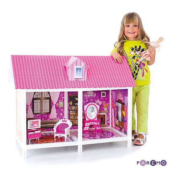 Кукольный дом, одноэтажный ParemoДомики для кукол<br>Характеристики товара:<br><br>• возраст: от 3 лет;<br>• высота куклы для домика: 25-30 см.;<br>• комплект: домик, 1 кукла, мебель, предметы интерьера;<br>• из чего сделана игрушка (состав): пластик, картон;<br>• размер упаковки: 86х7х36 см.;<br>• вес: 7 кг.;<br>• упаковка: коробка;<br>• страна обладатель бренда: Китай.<br><br>Изделие представляет собой одноэтажный дом для кукол, состоящий из 2 комнат. Игрушка поставляется в разобранном виде, сборка по принципу конструктора. Для устойчивой фиксации картонные вставки требуют проклейки с каркасами домика.<br><br>Кукольный домик Paremo можно купить в нашем интернет-магазине.<br>Ширина мм: 86; Глубина мм: 7; Высота мм: 36; Вес г: 8000; Возраст от месяцев: 36; Возраст до месяцев: 144; Пол: Унисекс; Возраст: Детский; SKU: 7133383;