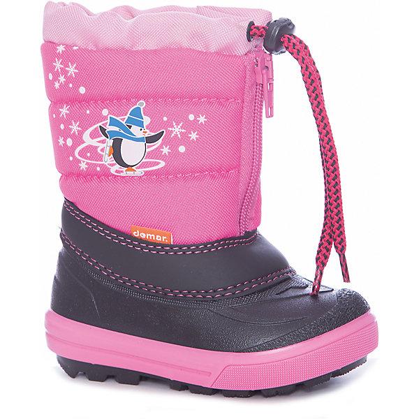 Сноубутсы Demar для девочкиСноубутсы<br>Сноубутсы Demar для девочки<br>Зимняя модель. Сапожки имеют утеплитель внутренней части изготовлен на основе натуральной овечьей шерсти, помогает выдерживать морозы до - 20 ° C. Зимние сапожки Demar очень легкие, вес до 400 гр.<br>Верх обуви - не продуваемый текстильный материал, имеющий высокие износостойкие и водоотталкивающие свойства. Термокаучук, используется при изготовлении подошвы способствует сохранению эластичности даже при низких температурах и позволяет избежать скольжения. Сапожки легко одеваются. Выполнены из супер легких материалов, вес их на столько легкий, что ребенок даже не заметит, что он уже обут)))<br>Утепленные натуральной овечьей шерстью - гарантия теплых ножек!<br>Сделаны в Польше!<br>Рекомендуем для зимних прогулок и игр.<br>Сертифицированы, гарантия качества. <br>Состав:<br><br>Ширина мм: 257<br>Глубина мм: 180<br>Высота мм: 130<br>Вес г: 420<br>Цвет: розовый<br>Возраст от месяцев: 12<br>Возраст до месяцев: 15<br>Пол: Женский<br>Возраст: Детский<br>Размер: 20/21,28/29,26/27,24/25,22/23<br>SKU: 7133848