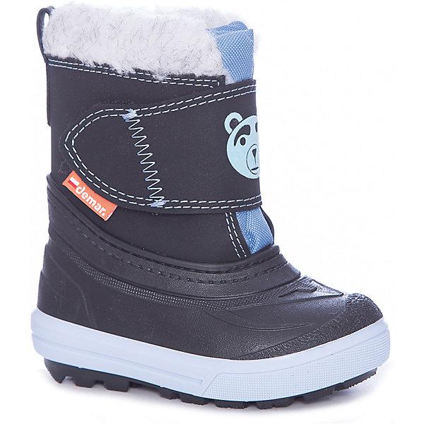 Сноубутсы Demar для мальчикаСапоги<br>Сноубутсы Demar для мальчика<br>Зимняя модель. Сапожки имеют утеплитель внутренней части изготовлен на основе натуральной овечьей шерсти, помогает выдерживать морозы до - 20 ° C. Зимние сапожки Demar очень легкие, вес до 400 гр.<br>Верх обуви - не продуваемый текстильный материал, имеющий высокие износостойкие и водоотталкивающие свойства. Термокаучук, используется при изготовлении подошвы способствует сохранению эластичности даже при низких температурах и позволяет избежать скольжения. Сапожки легко одеваются. Выполнены из супер легких материалов, вес их на столько легкий, что ребенок даже не заметит, что он уже обут)))<br>Утепленные натуральной овечьей шерстью - гарантия теплых ножек!<br>Сделаны в Польше!<br>Рекомендуем для зимних прогулок и игр.<br>Сертифицированы, гарантия качества. <br>Состав:<br>Ширина мм: 257; Глубина мм: 180; Высота мм: 130; Вес г: 420; Цвет: черный; Возраст от месяцев: 12; Возраст до месяцев: 15; Пол: Мужской; Возраст: Детский; Размер: 20/21,28/29,22/23,24/25,26/27; SKU: 7133854;
