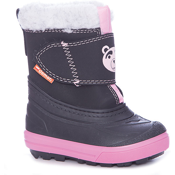 Сноубутсы Demar для девочкиСноубутсы<br>Сноубутсы Demar для девочки<br>Зимняя модель. Сапожки имеют утеплитель внутренней части изготовлен на основе натуральной овечьей шерсти, помогает выдерживать морозы до - 20 ° C. Зимние сапожки Demar очень легкие, вес до 400 гр.<br>Верх обуви - не продуваемый текстильный материал, имеющий высокие износостойкие и водоотталкивающие свойства. Термокаучук, используется при изготовлении подошвы способствует сохранению эластичности даже при низких температурах и позволяет избежать скольжения. Сапожки легко одеваются. Выполнены из супер легких материалов, вес их на столько легкий, что ребенок даже не заметит, что он уже обут)))<br>Утепленные натуральной овечьей шерстью - гарантия теплых ножек!<br>Сделаны в Польше!<br>Рекомендуем для зимних прогулок и игр.<br>Сертифицированы, гарантия качества. <br>Состав:<br>Ширина мм: 257; Глубина мм: 180; Высота мм: 130; Вес г: 420; Цвет: черный/розовый; Возраст от месяцев: 36; Возраст до месяцев: 48; Пол: Женский; Возраст: Детский; Размер: 26/27,28/29,20/21,22/23,24/25; SKU: 7133860;