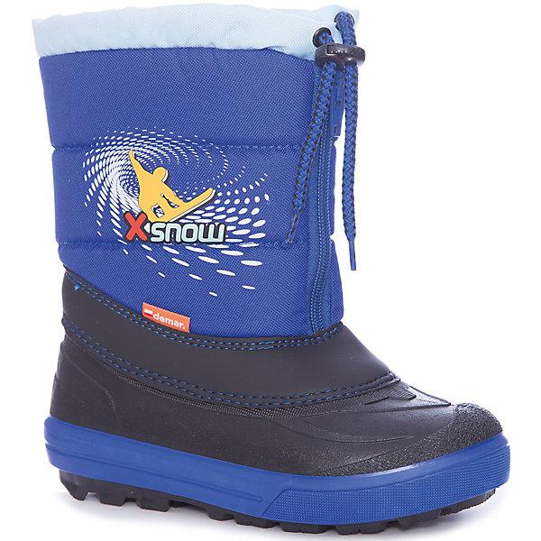 Сноубутсы Demar для мальчикаСноубутсы<br>Сноубутсы Demar для мальчика<br>Зимняя модель. Сапожки имеют утеплитель внутренней части изготовлен на основе натуральной овечьей шерсти, помогает выдерживать морозы до - 20 ° C. Зимние сапожки Demar очень легкие, вес до 400 гр.<br>Верх обуви - не продуваемый текстильный материал, имеющий высокие износостойкие и водоотталкивающие свойства. Термокаучук, используется при изготовлении подошвы способствует сохранению эластичности даже при низких температурах и позволяет избежать скольжения. Сапожки легко одеваются. Выполнены из супер легких материалов, вес их на столько легкий, что ребенок даже не заметит, что он уже обут)))<br>Утепленные натуральной овечьей шерстью - гарантия теплых ножек!<br>Сделаны в Польше!<br>Рекомендуем для зимних прогулок и игр.<br>Сертифицированы, гарантия качества. <br>Состав:<br><br>Ширина мм: 257<br>Глубина мм: 180<br>Высота мм: 130<br>Вес г: 420<br>Цвет: синий<br>Возраст от месяцев: 132<br>Возраст до месяцев: 144<br>Пол: Мужской<br>Возраст: Детский<br>Размер: 34/35,30/31,32/33<br>SKU: 7133872