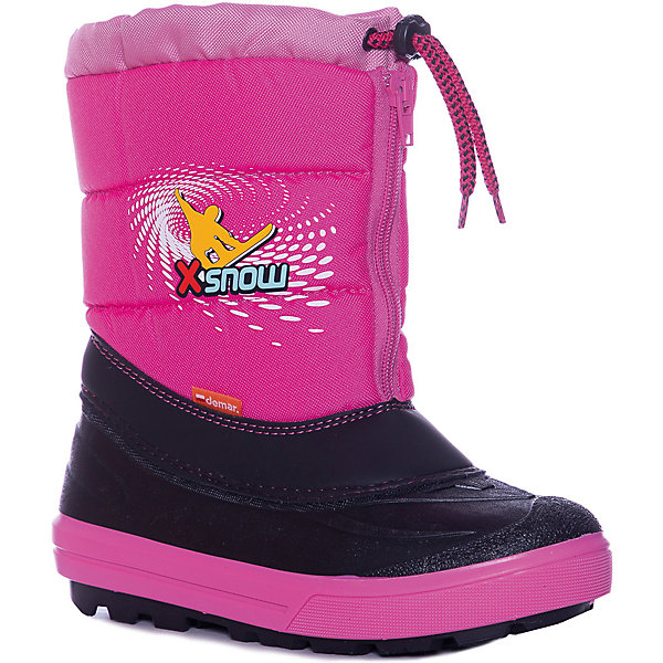 Сноубутсы Demar для девочкиСноубутсы<br>Сноубутсы Demar для девочки<br>Зимняя модель. Сапожки имеют утеплитель внутренней части изготовлен на основе натуральной овечьей шерсти, помогает выдерживать морозы до - 20 ° C. Зимние сапожки Demar очень легкие, вес до 400 гр.<br>Верх обуви - не продуваемый текстильный материал, имеющий высокие износостойкие и водоотталкивающие свойства. Термокаучук, используется при изготовлении подошвы способствует сохранению эластичности даже при низких температурах и позволяет избежать скольжения. Сапожки легко одеваются. Выполнены из супер легких материалов, вес их на столько легкий, что ребенок даже не заметит, что он уже обут)))<br>Утепленные натуральной овечьей шерстью - гарантия теплых ножек!<br>Сделаны в Польше!<br>Рекомендуем для зимних прогулок и игр.<br>Сертифицированы, гарантия качества. <br>Состав:<br><br>Ширина мм: 257<br>Глубина мм: 180<br>Высота мм: 130<br>Вес г: 420<br>Цвет: розовый<br>Возраст от месяцев: 84<br>Возраст до месяцев: 96<br>Пол: Женский<br>Возраст: Детский<br>Размер: 30/31,34/35,32/33<br>SKU: 7133876