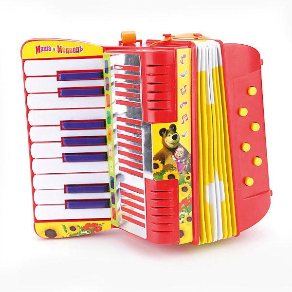 Аккордеон Играем вместе Маша и Медведь, 5 функцийДругие музыкальные инструменты<br>Характеристики:<br><br>• возраст: от 3 лет;<br>• тип игрушки: аккордеон;<br>• цвет: белый, оранжевый, черный;<br>• материал: пластик;<br>• размер: 22х11х23 см;<br>• вес: 720 гр;<br>• особенности: 5 функций;<br>• страна производитель: Россия.<br><br>Аккордеон «Маша и Медведь», 5 функций - один из самых сложных музыкальных инструментов, но этот упрощённый детский вариант станет прекрасным способом приобщить ребёнка к миру музыки. Игрушка несомненно понравиться маленьким музыкантам и каждый раз будет поднимать ребенку настроение.  Также он обязательно порадует вашего малыша своим видом, ведь он сделан в стиле любимого многими малышами мультика.<br><br>Яркие кнопочки на корпусе, красивый дизайн,  ударопрочный  пластик высокого качества и нетоксичного для детей – основные свойства игрушки. Аккордеон имеет 5 функций и задач:  развивать музыкальную память, моторику рук, слух, артистизм и координацию движений.<br><br>Аккордеон «Маша и Медведь», 5 функций можно купить в нашем интернет-магазине.<br>Ширина мм: 220; Глубина мм: 110; Высота мм: 230; Вес г: 720; Возраст от месяцев: 36; Возраст до месяцев: 84; Пол: Унисекс; Возраст: Детский; SKU: 7134882;