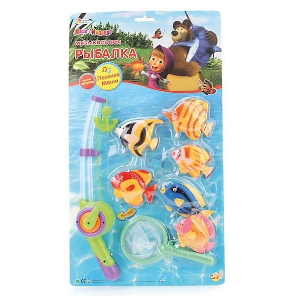 Игрушка-рыбалка Играем вместе Маша и МедведьСпортивные настольные игры<br>Характеристики:<br><br>• возраст: от 3 лет;<br>• тип игрушки: игра рыбалка;<br>• материал: пластик, металл;<br>• цвет: красный, синий, желтый;<br>• размер: 50х5х28 см;<br>• вес: 430 гр;<br>• комплект: 1 удочка, 4 рыбки, 1 сачок;<br>• тип батареек: АА;<br>• наличие батареек: не входят в комплект.<br>• страна производитель: Россия.<br><br>Игра рыбалка «Маша и Медведь» со светом и звуком – это увлекательная настольная игра, которая перенесет ребенка в мир морских приключений. Она изготовлена по мотивам одноименного детского мультсериала. Ребятам предстоит ловить рыбу, которая крутится на специальном диске. Всего в набор входят 1 светящаяся удочка, 4 рыбки, 1 сачок. Более того, рыбалка будет веселой и интересной, ведь игрушка оснащена звуковыми эффектами.<br><br>Игра от производителя «Играем вместе» развивает сенсомоторную координацию и реакцию. Набор можно использовать в ванной – так купание станет еще веселее. «Рыбалка» подходит для детей возрастом от трех лет.<br><br>Игру рыбалка «Маша и Медведь» со светом и звуком можно купить в нашем интернет-магазине.<br>Ширина мм: 500; Глубина мм: 50; Высота мм: 280; Вес г: 430; Возраст от месяцев: 36; Возраст до месяцев: 84; Пол: Унисекс; Возраст: Детский; SKU: 7134888;