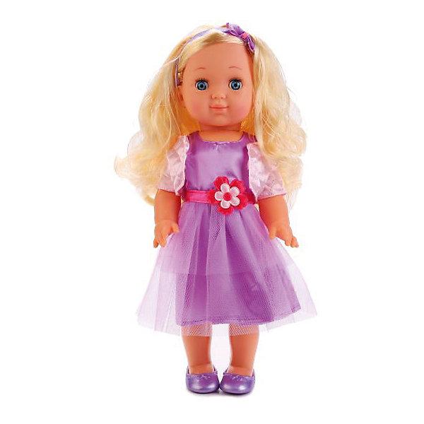 Кукла Карапуз Полина, 35 см звукКуклы<br>Характеристики:<br><br>• возраст: от 3 лет;<br>• тип игрушки: кукла;<br>• материал: пластик;<br>• высота куклы: 35 см;<br>• размер: 22х10х38 см;<br>• вес: 670 гр; <br>• тип батареек: АА;<br>• количество воспроизводимых фраз: 100;<br>• наличие батареек: входят в комплект.<br>• страна производитель: Китай.<br><br>Кукла «Полина»,  35 см, озвученная, обязательно понравится девочкам, предпочитающим сюжетно-ролевые игры и привлечет их внимание своим очаровательным внешним видом. Стильная и красивая кукла имеет высоту 35  см, в комплекте с ней идет оригинальный наряд. <br><br>Игрушка отличается качественным исполнением, у нее миловидное выражение лица и выразительные глазки, а также длинные светлые волосы.  Полина закрывает глазки, если ее баюкать, укладывая спать, а также умеет разговаривать - кукла декламирует стих и поет песенку авторства Агнии Барто. Девочки с удовольствием будут придумывать интересные игровые сюжеты с данной куколкой и весело проводить свое свободное время.<br><br>Куклу  «Полина»,  35 см, озвученная,  можно купить в нашем интернет-магазине.<br>Ширина мм: 220; Глубина мм: 100; Высота мм: 380; Вес г: 670; Возраст от месяцев: 36; Возраст до месяцев: 84; Пол: Женский; Возраст: Детский; SKU: 7134899;