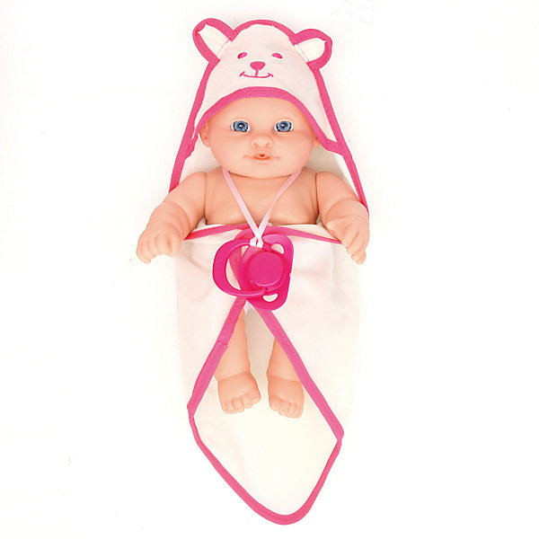Кукла-пупс Карапуз 3 функции, 23 см с аксессуарамиКуклы<br>Характеристики:<br><br>• возраст: от 3 лет;<br>• тип игрушки: пупс;<br>• материал: пластик;<br>• высота куклы: 23 см;<br>• размер: 23х11х22 см;<br>• вес: 490 гр; <br>• комплект: пупс, бутылочка, горшок, комплект одежды;<br>• страна производитель: Китай.<br><br>Пупс 23 см - очаровательный малыш с голубыми глазками и пухлыми щечками.  Он обязательно понравится девочкам, предпочитающим сюжетно-ролевые игры и привлечет их внимание своим очаровательным внешним видом. Набор с очаровательным пупсом с тремя игровыми функциями и комплектом аксессуаров идеально подходит для игр в дочки-матери. <br><br>У пупса двигаются ручки, ножки и голова, его можно покормить из бутылочки и посадить на горшочек. А когда придет время купаться, то пупса можно взять с собой в ванну. <br>Девочке будет весело с таким подарком. Они с удовольствием будут придумывать интересные игровые сюжеты с таким пупсом и весело проводить свое свободное время.<br><br>Пупса 23 см   можно купить в нашем интернет-магазине.<br>Ширина мм: 230; Глубина мм: 110; Высота мм: 220; Вес г: 490; Возраст от месяцев: 36; Возраст до месяцев: 84; Пол: Женский; Возраст: Детский; SKU: 7134900;