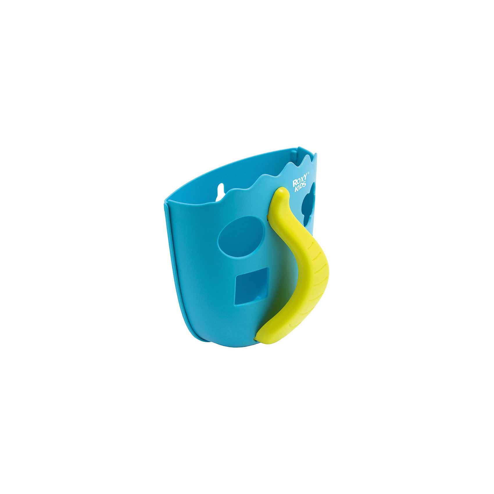 Органайзер для игрушек в ванную Roxy-Kids Dino, голубойПрочие аксессуары<br>Характеристики товара:<br><br>• органайзер для хранения игрушек;<br>• ковшеобразная конструкция;<br>• органайзер оснащен ручкой;<br>• отверстия для слива;<br>• игрушки, которые находятся в органайзере, удобно мыть под краном;<br>• функция сортера: отверстия геометрической формы, в комплекте 4 фигурки;<br>• способ крепления: присоски;<br>• материал: полипропилен;<br>• размер упаковки: 22х19х14 см;<br>• вес: 286 г.<br><br>Органайзер для игрушек в ванную Roxy-Kids Dino, мятный можно купить в нашем интернет-магазине.<br><br>Ширина мм: 220<br>Глубина мм: 190<br>Высота мм: 140<br>Вес г: 286<br>Цвет: мятный<br>Возраст от месяцев: 0<br>Возраст до месяцев: 12<br>Пол: Унисекс<br>Возраст: Детский<br>SKU: 7136443