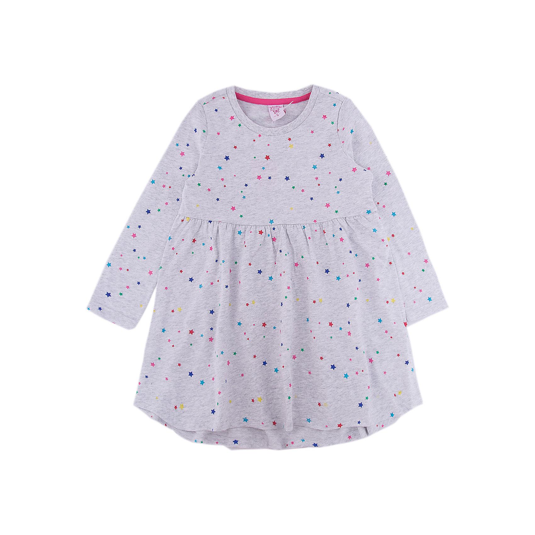 Платье SELA для девочкиПлатья и сарафаны<br>Характеристики товара:<br><br>• цвет: серый<br>• состав ткани: 100% хлопок<br>• сезон: демисезон<br>• длинные рукава<br>• страна бренда: Россия<br>• страна производства: Китай<br><br>Это платье для девочки отличается удлиненным сзади подолом. Принтованная дышащая ткань детского платья - качественный натуральный хлопок. Серое платье для девочки от Sela - стильная молодежная вещь по доступной цене. <br><br>Платье для девочки Sela (Села) можно купить в нашем интернет- магазине.<br><br>Ширина мм: 236<br>Глубина мм: 16<br>Высота мм: 184<br>Вес г: 177<br>Цвет: серый<br>Возраст от месяцев: 60<br>Возраст до месяцев: 72<br>Пол: Женский<br>Возраст: Детский<br>Размер: 92,98,104,110,116<br>SKU: 7136706