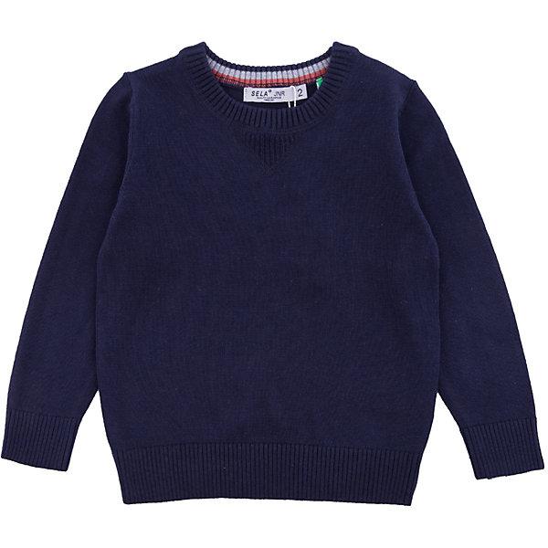 Джемпер SELA для мальчикаСвитера и кардиганы<br>Характеристики товара:<br><br>• цвет: синий<br>• состав ткани: 100% хлопок<br>• сезон: демисезон<br>• длинные рукава<br>• страна бренда: Россия<br>• страна производства: Бангладеш<br><br>Удобный джемпер для мальчика от Sela выполнен в приятном универсальном цвете. Стильный джемпер для мальчика отличается прямым силуэтом. Джемпер для ребенка - практичная базовая деталь гардероба. <br><br>Джемпер Sela (Села) для мальчика можно купить в нашем интернет- магазине.<br>Ширина мм: 356; Глубина мм: 10; Высота мм: 245; Вес г: 519; Цвет: синий; Возраст от месяцев: 18; Возраст до месяцев: 24; Пол: Мужской; Возраст: Детский; Размер: 92,116,110,104,98; SKU: 7136771;