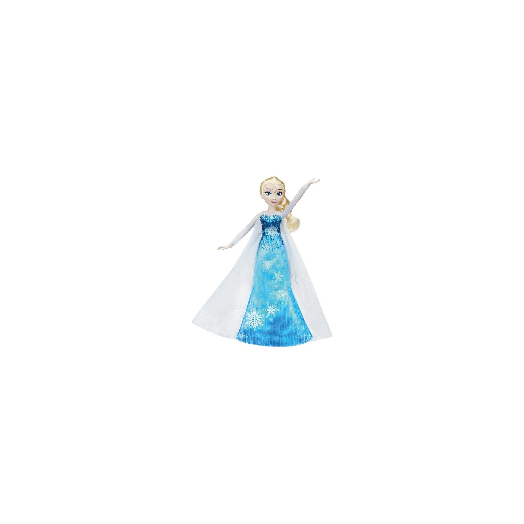 Кукла Hasbro Disney Frozen, Эльза в музыкальном платьеКуклы-модели<br><br><br>Ширина мм: 64<br>Глубина мм: 229<br>Высота мм: 356<br>Вес г: 313<br>Возраст от месяцев: 36<br>Возраст до месяцев: 2147483647<br>Пол: Женский<br>Возраст: Детский<br>SKU: 7137749