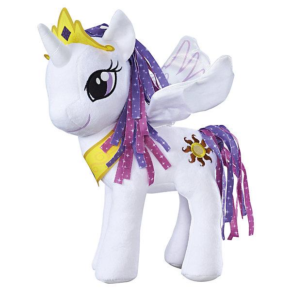 Мягкая игрушка Hasbro My little Pony Пони с крыльями, Принцесса СелестияМягкие игрушки из мультфильмов<br><br><br>Ширина мм: 114<br>Глубина мм: 226<br>Высота мм: 325<br>Вес г: 413<br>Возраст от месяцев: 36<br>Возраст до месяцев: 2147483647<br>Пол: Женский<br>Возраст: Детский<br>SKU: 7137773