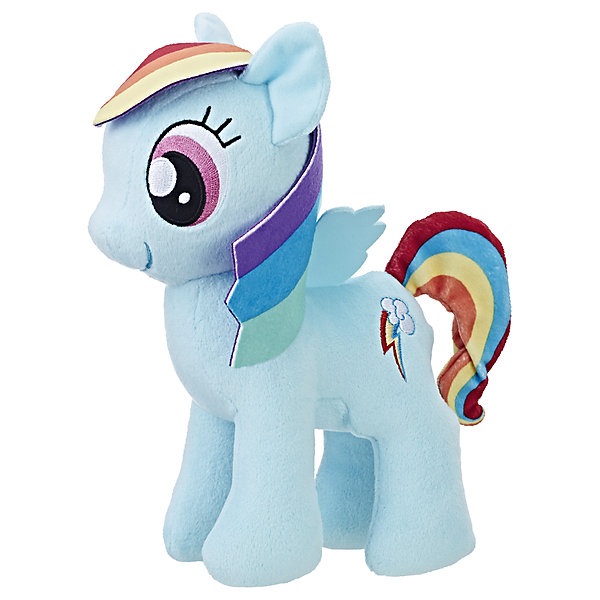 Мягкая игрушка Hasbro My little Pony Плюшевые пони, Рэйнбоу ДэшМягкие игрушки из мультфильмов<br>Характеристики:<br><br>• тип игрушки: фигурка;<br>• возраст: от 3 лет;<br>• вес: 186 гр; <br>• цвет: голубой;<br>• материал: плюш;<br>• размер: 16х8х24 см;<br>• бренд: Hasbro.<br><br>Плюшевые Пони Маленькие, Hasbro, My Little Pony  представляет из себя красивую лошадку, которая порадует девочек от трех лет. Мягкая игрушка выполнена из плюша. Грива и хвост игрушки выполнены из ткани. Знак и глаза на красивой фигурке вышиты. Игрушка выполнена из качественных и безопасных материалов, поэтому рекомендована для детей.<br><br>В серии представлены несколько игрушек из плюша, разных цветов. Поэтому ребенок сможет собрать целую коллекцию волшебных лошадок.<br><br>Плюшевые Пони Маленькие, Hasbro, My Little Ponyможно купить в нашем интернет-магазине.<br>Ширина мм: 80; Глубина мм: 160; Высота мм: 240; Вес г: 186; Возраст от месяцев: 36; Возраст до месяцев: 2147483647; Пол: Женский; Возраст: Детский; SKU: 7137777;