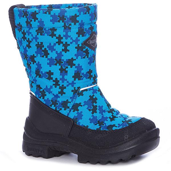 Сапоги Putkivarsi Kuoma для мальчикаОбувь<br>Характеристики товара:<br><br>• цвет: синий<br>• внешний материал: текстиль<br>• внутренний материал: войлок<br>• стелька: войлок<br>• подошва: полиуретан<br>• сезон: зима<br>• температурный режим: от -35 до -5<br>• застежка: нет<br>• анатомические <br>• подошва не скользит<br>• высокие<br>• защита мыса<br>• страна бренда: Финляндия<br>• страна изготовитель: Финляндия<br><br>Утепленные детские сапоги имеют толстую устойчивую подошву. Сапоги для мальчика Kuoma разработаны специально для детей, поэтому учитывают особенности строения ноги ребенка. Это поможет малышам не мерзнуть в таких сапогах для детей.<br><br>Сапоги Putkivarsi Kuoma (Куома) для мальчика можно купить в нашем интернет-магазине.<br>Ширина мм: 257; Глубина мм: 180; Высота мм: 130; Вес г: 420; Цвет: синий; Возраст от месяцев: 18; Возраст до месяцев: 21; Пол: Мужской; Возраст: Детский; Размер: 23,22,35,34,33,32,31,30,29,28,27,24; SKU: 7138547;