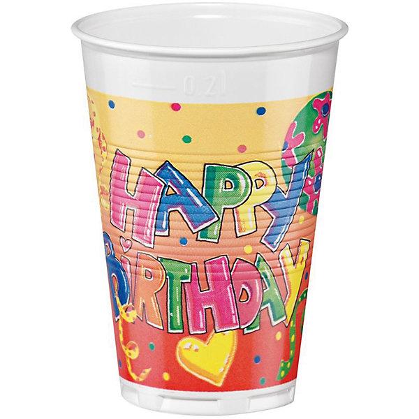 Одноразовые стаканы Susy Card Happy Birthday 12 шт, 200 млНовинки для праздника<br>Характеристики товара: <br><br>• возраст: от 3 лет;<br>• вид: набор бумажных стаканов;<br>• размер: 7x7x14,6 см.;<br>• вес: 52 гр.;<br>• объем стакана: 200 мл.;<br>• материал: картон;<br>• комплектность: 12 шт.;<br>• страна изготовитель: Германия.<br><br>Бумажные стаканчики прекрасно подходят как для горячих, так и для холодных напитков. <br><br>Продукция сертифицирована и отвечает международным стандартам безопасности и качества. При производстве посуды компания использует краски на водной основе. <br><br>Набор бумажных стаканов можно купить внашем интернет-магазине.<br><br>Ширина мм: 70<br>Глубина мм: 70<br>Высота мм: 146<br>Вес г: 52<br>Возраст от месяцев: 36<br>Возраст до месяцев: 2147483647<br>Пол: Унисекс<br>Возраст: Детский<br>SKU: 7139142