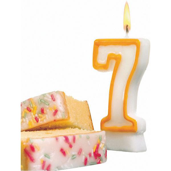 Свеча-цифра 7. асс цв., 8.5см, парафин, блистерНовинки для праздника<br>Свеча-цифра для торта Susy Card   в виде цифры 7. Изготовлена из высококачественного парафина .Предназначена для декорирования торта к празднику. Можно комбинировать с другими цифрами. Изделие хорошо и долго горит.<br>Ширина мм: 18; Глубина мм: 90; Высота мм: 175; Вес г: 39; Возраст от месяцев: 36; Возраст до месяцев: 2147483647; Пол: Унисекс; Возраст: Детский; SKU: 7139151;