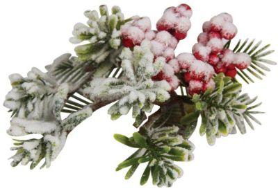 Marko Ferenzo Ел.укр. RUSSIAN WINTER веточка ягоды калины в снегу, 20х12см,1шт