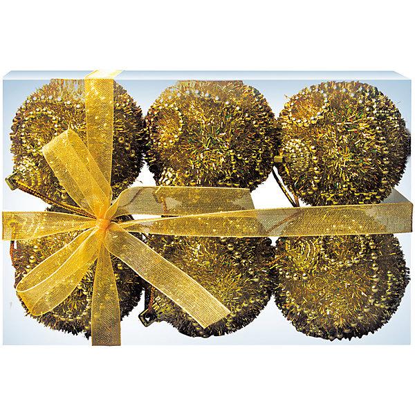 ёл. укр. набор шаров 6шт.CLASSIC GOLD с узорами, 5см, золотоЁлочные игрушки<br>Характеристики:<br><br>• тип игрушки: елочное украшение;<br>• размер: 14,5х10,5х6 см;<br>• количество: 6 шт;<br>• цвет: золотой;<br>• бренд: Marko Ferenzo;<br>• возраст: от 3 лет;<br>• вес: 41 гр;<br>• материал: пластик.<br><br>Набор шаров 6шт. «CLASSIC GOLD» с узорами, 5см, золото станет отличным дополнением к новогодним украшениям елки или интерьера дома к праздникам. Такое украшение станет актуальным подарком, который позволит заранее подготовиться к празднованию Нового года. С помощью него ребенок сможет сам поучаствовать в подготовке к празднику и украсить дом. <br><br>Эту игрушку может использовать ребенок от трех лет. Шары красиво переливаются, благодаря своему цвету. И поэтому при свете электрических гирлянд шары будут изыскано смотреться на любой новогодней елочке. Игрушки изготовлена из пластика. <br><br>Такую игрушку можно использовать для украшения новогодней елки или как элемент декора. Использование игрушек позволяет ребенку проявить свои творческие способности, пофантазировать или раскрыть талант. Все элементы шара являются абсолютно безопасными для ребенка и изготовлены из высококачественных материалов.<br><br>Набор шаров 6шт. «CLASSIC GOLD» с узорами, 5см, золото можно купить в нашем интернет-магазине.<br><br>Ширина мм: 145<br>Глубина мм: 105<br>Высота мм: 60<br>Вес г: 41<br>Возраст от месяцев: 36<br>Возраст до месяцев: 2147483647<br>Пол: Унисекс<br>Возраст: Детский<br>SKU: 7140214