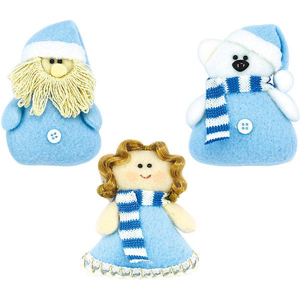 набор украш  ДЕТСКАЯ дед мороз, мишка, ангел, 3шт, голубойЁлочные игрушки<br>Характеристики:<br><br>• тип игрушки: елочное украшение;<br>• цвет: голубой;<br>• размер: 18,5х3х8,5 см;<br>• количество: 3 шт;<br>• бренд: Marko Ferenzo;<br>• возраст: от 3 лет;<br>• вес: 57 гр;<br>• материал: пластик.<br><br>Набор украшений «ДЕТСКАЯ» дед мороз, мишка, ангел, 3шт, голубой станет отличным дополнением к новогодним украшениям елки или интерьера дома к праздникам. Такое украшение станет актуальным подарком, который позволит заранее подготовиться к празднованию Нового года. С помощью него ребенок сможет сам поучаствовать в подготовке к празднику и украсить дом.<br><br>Эту игрушку из набора 3 шт. может использовать ребенок от трех лет. Елочное украшение от бренда Marko Ferenzo представляет собой набор из разных фигурок – в нем ребенок найдет мишку, ангела и Деда мороза. Они подойдут для любого интерьера. Пластиковое изделие  практически невесомое. Размер – 8,5 см.  <br><br>Игрушку можно использовать для украшения новогодней елки или как элемент декора. Использование игрушек такого типа позволяет ребенку проявить свои творческие способности, пофантазировать или раскрыть талант. Все элементы  являются абсолютно безопасными для ребенка и изготовлены из высококачественных материалов.<br><br>Набор украшений «ДЕТСКАЯ» дед мороз, мишка, ангел, 3шт, голубой можно купить в нашем интернет-магазине.<br>Ширина мм: 185; Глубина мм: 85; Высота мм: 30; Вес г: 57; Возраст от месяцев: 36; Возраст до месяцев: 2147483647; Пол: Унисекс; Возраст: Детский; SKU: 7140242;